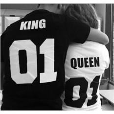 Парные футболки King 01 / Queen 01