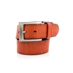 Рыжий мужской кожаный ремень G.Ferretti тип 43-6