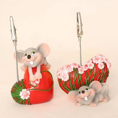 Визитница «Мышь на сердце»