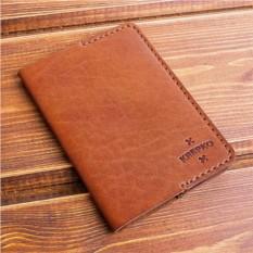 Коричневая кожаная обложка для паспорта Minimalism
