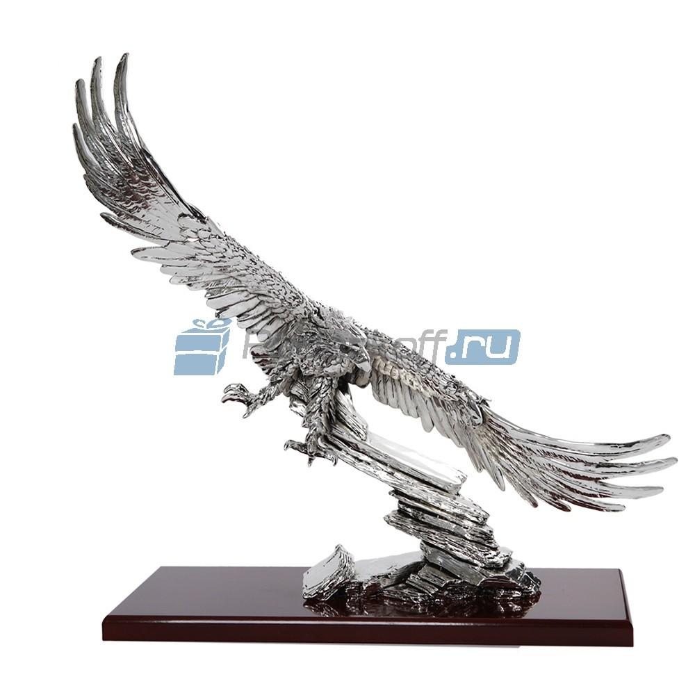 Скульптура Орел парящий, серебро