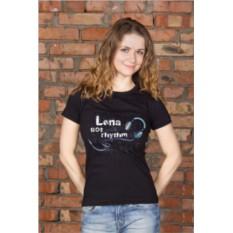 Женская именная футболка с вашим текстом Got rhythm