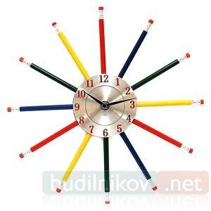 Часы настенные Карандаши
