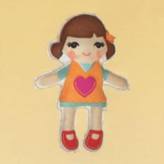 Набор для шитья из фетра Кукла в желтом платье