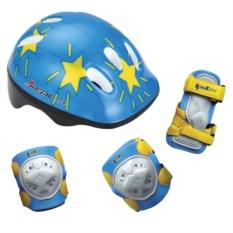 Детский комплект из защиты коленей, локтей, ладоней и шлема