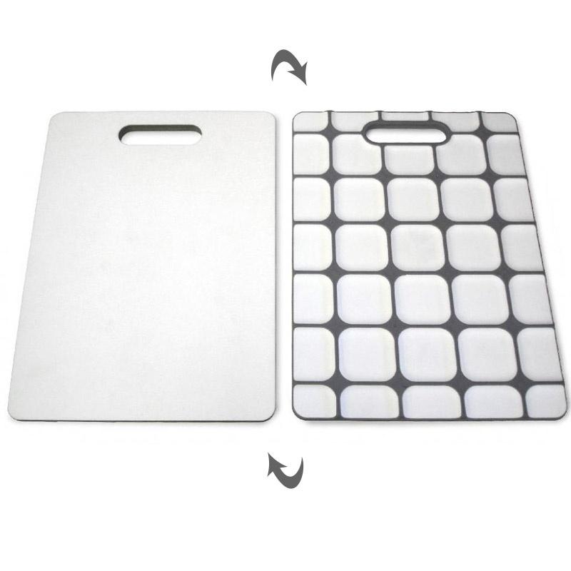 Разделочная доска с нескользящей силиконовой основой Grip-top™, белая