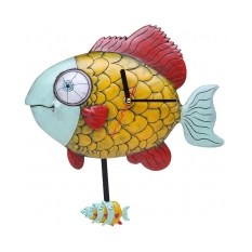 Часы для кухни с маятником «Рыбный день»
