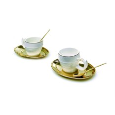 Золотистый чайный набор Tea Ricciolo