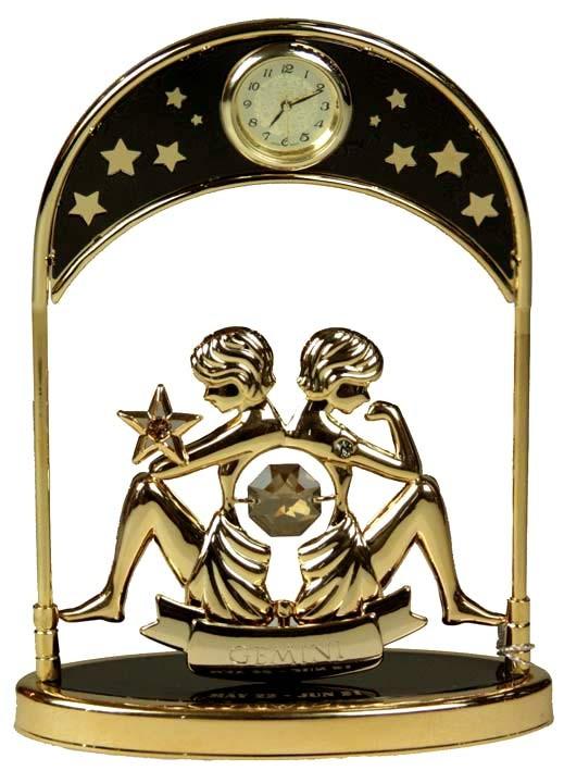 Фигурка Swarovski с часами Знак Зодиака Близнецы