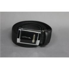 Черный мужской кожаный ремень тип 78-2