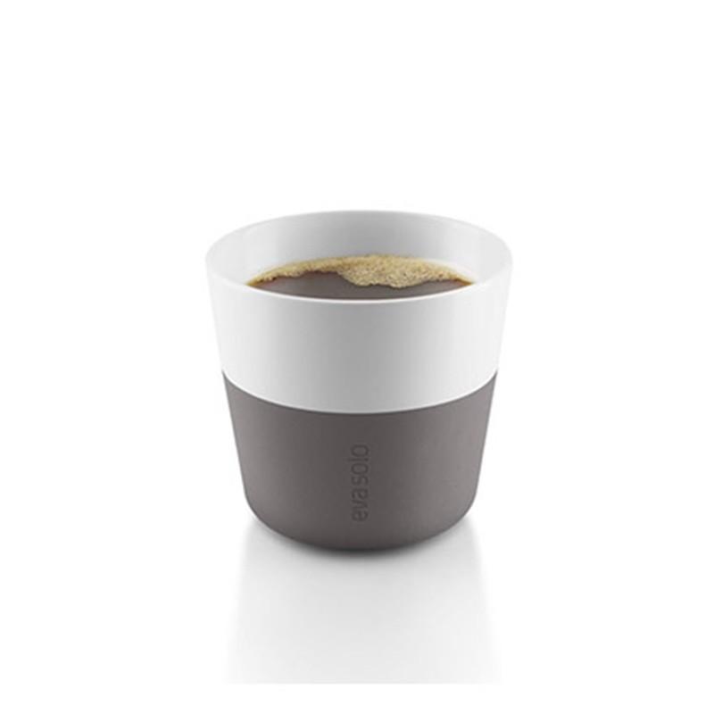Серые фарфоровые чашки Lungo