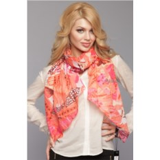 Женский коралловый шарф Laura Milano