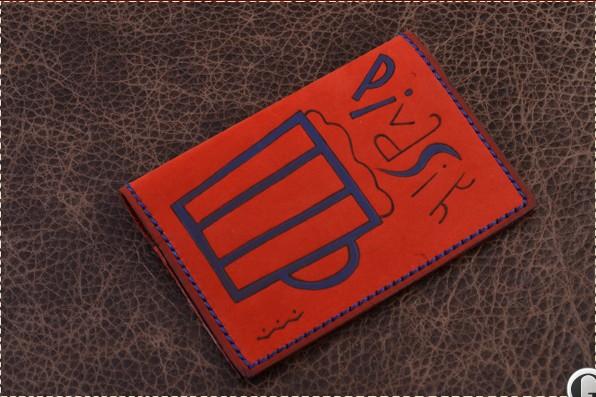 Обложка для паспорта. Коллекция Altamira (красный; нат. кожа)
