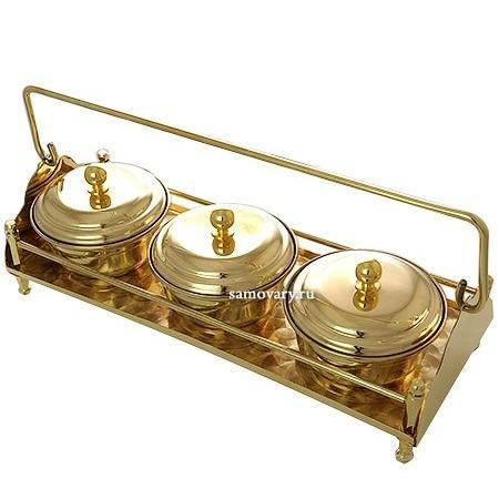 Набор для мёда и варенья Под золото