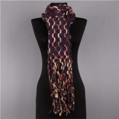 Фиолетовый женский зимний шарф