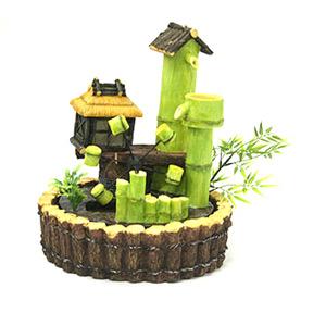 Фонтан с подсветкой «Бамбуковый домик»