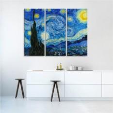 Модульная картина Ван Гог. Звездная ночь