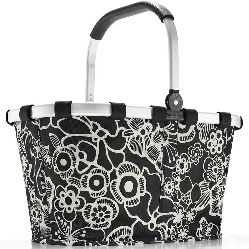 Стильная корзина Carrybag fleur black