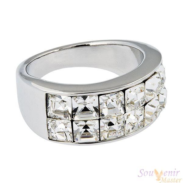 Кольцо с кристаллами Swarovski Мила
