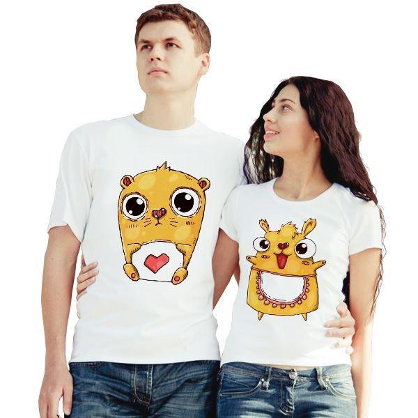 Парные футболки Хомячки