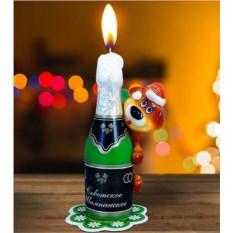 Новогодняя свеча «Советское шампанское»