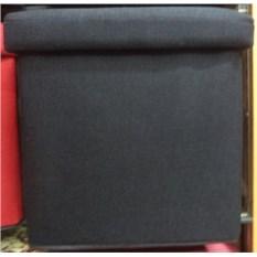 Темно-серый складной пуф с местом для хранения