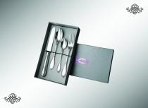 Серебряный десертный набор Императорский, из 4 предметов (юниор)