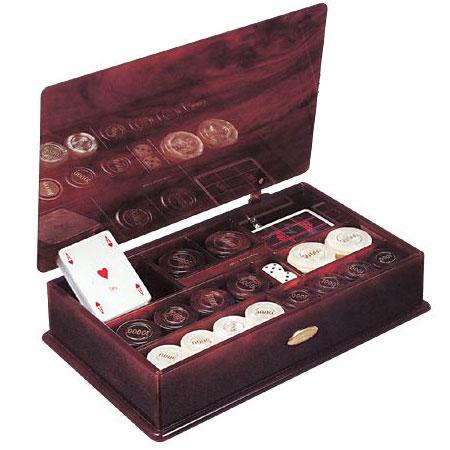 Подарочный набор: фишки+2 колоды карт+кости