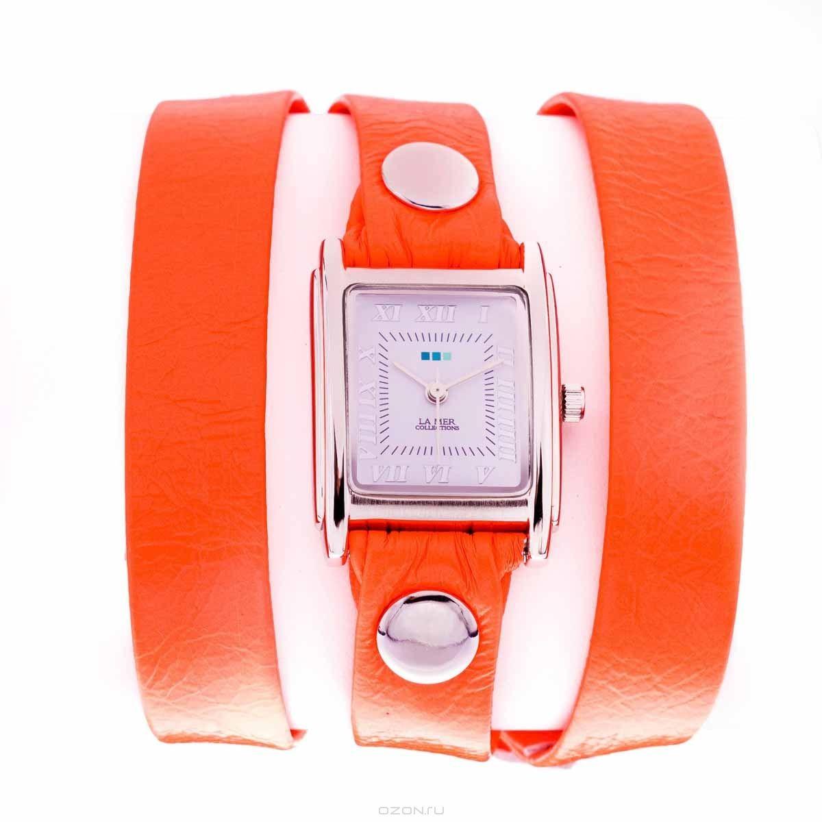 Часы женские наручные La Mer Simple Neon Orange