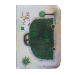 """Держатель для карточек """"Зеленая машинка"""""""