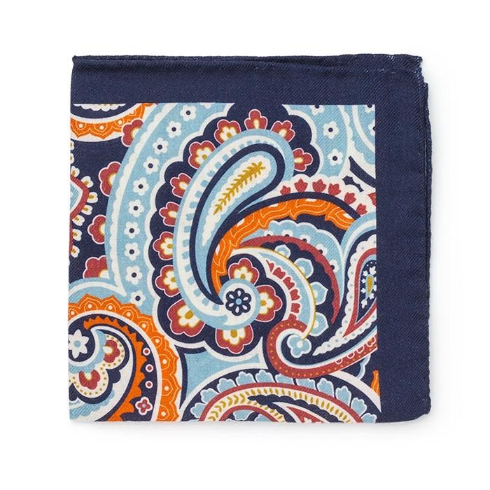 Платок Roda из шерсти, с крупным узором, синий
