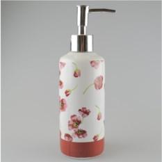 Керамический дозатор для жидкого мыла Тюльпаны