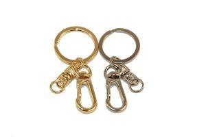 Кольцо для ключей с карабином