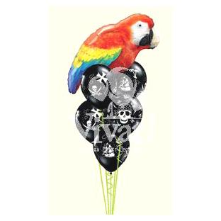Букет из шаров «Пиратский попугай»