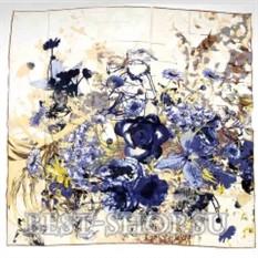 Платок картина с цветами