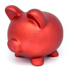 Красная копилка Свинья