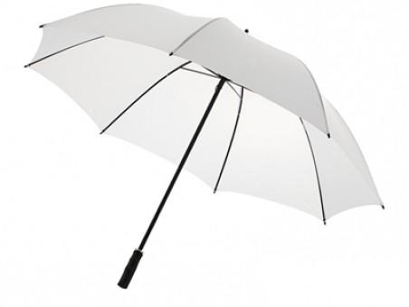 Белый полуавтоматический элегантный зонт-трость