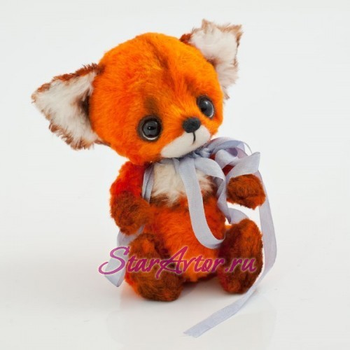 Авторская игрушка в технике тедди Лисёнон Рыжий лучик