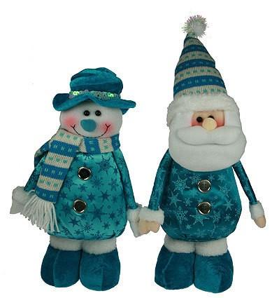 Новогодний сувенир Дед Мороз/снеговик, 34 см