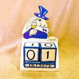 Календарь «Кролик с бокалом»