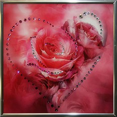 Картина с кристаллами Swarovski Сердечко №5