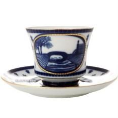 Чашка с блюдцем Верхне-Лебяжий мост (фарфор)