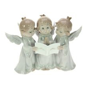 Фигурка декоративная Поющие ангелочки, фарфор