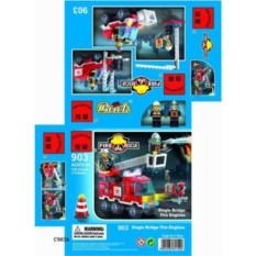 Игрушка-конструктор Пожарная машина с 2-мя фигурками