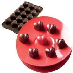 Форма для шоколада Сердечки