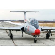 Пилотаж на реактивном самолете Л-29 в кабине с видео