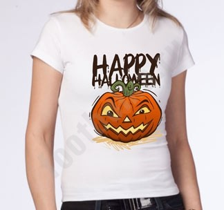 Женская футболка на halloween Тыква полноцвет