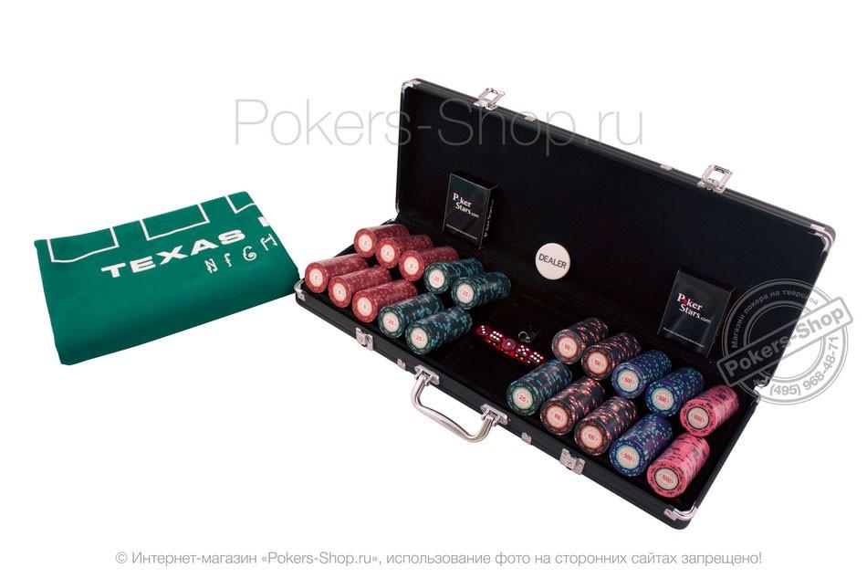 Турнирный набор для покера Casino Royale на 500 фишек