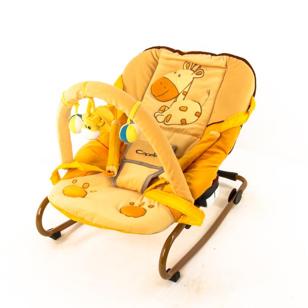Шезлонг Capella Comfort Plus, цвет: желто-оранжевый