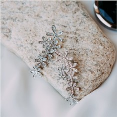 Серьги «Летнее настроение» с белыми кристаллами